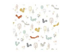 Lilipinso Tapeta na zeď vliesová Squirrels wood