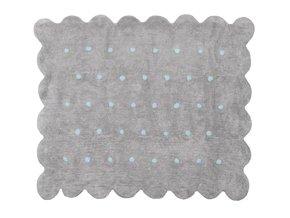 Aratextil Koberec Cookie  šedo modrý 120 x 160 cm