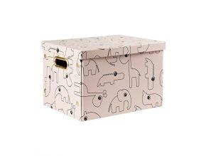 1625 ulozny box contour ruzovy