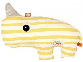 DONE BY DEER Mazlivá 2D hračka Nozo - žlutá