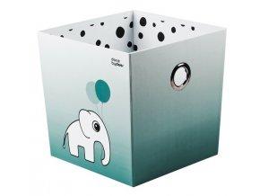 DONE BY DEER Úložný box Happy dots - modrý