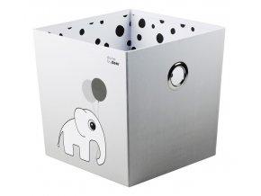 DONE BY DEER Úložný box Happy dots - šedý