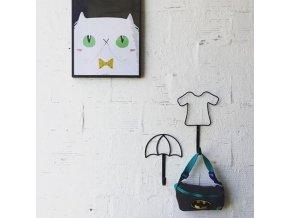 Plakát Gato blanco A3