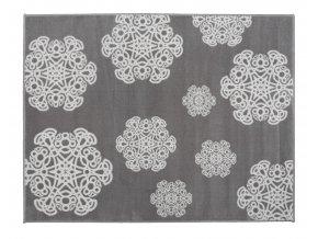 Aratextil Koberec akrylový Mandala šedý 140 x 200 cm