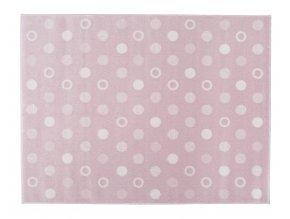 Aratextil Koberec akrylový Puntos růžový 140 x 200 cm