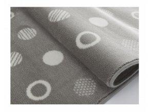 Aratextil Koberec akrylový Puntos šedý 140 x 200 cm