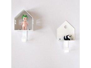 Věšáčky domečky 2 ks bílé
