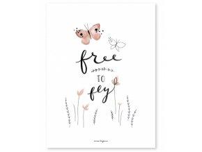 Lilipinso Plakát Free to fly 30 x 40 cm