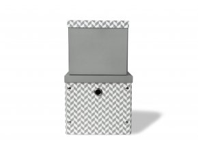 herringbone storage boxes charcoal grey2