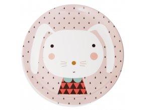 Melamine plate rabbit drops MPB28