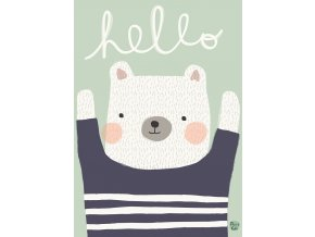 aless bayliss poster hello bear 1