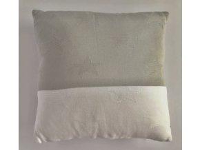 Polštář Hvězdy Bílá, šedá 40 x 40 cm