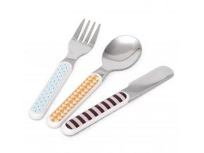 cutlery set bear drops blue cs1c