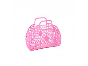 Hot pink Retro basket small