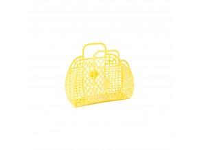 Yellow Retro basket small