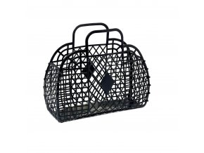 Black retro basket