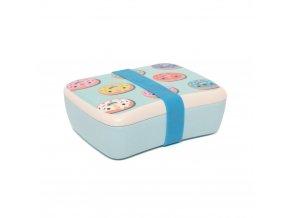 bamboo lunchbox donuts blue blb15 b