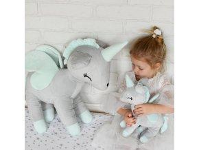 3253 jednorozec jednorozec unicorn unicorns grey szary xl