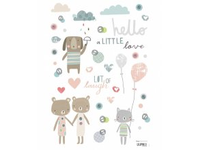 stickers amis animaux ballon garcon fille chambre bebe enfant lilipinso S0640 IMG01