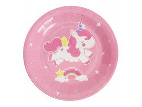 ptplun05 1 lr paper plates unicorn