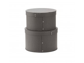 1000229 Storage Box Round 2 set Grey