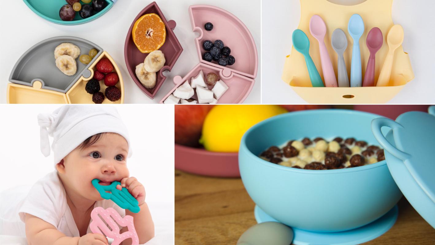 Silikonové jídelní potřeby pro děti