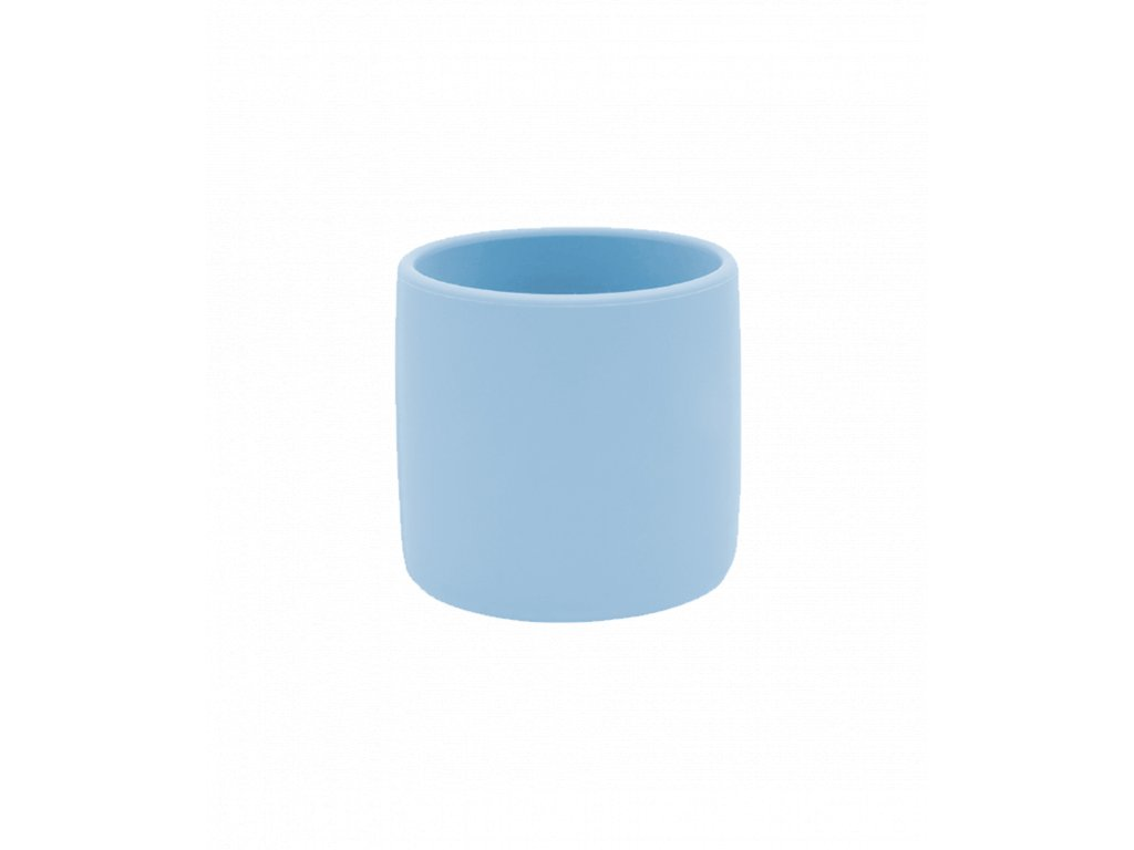 Silikónový pohárik pre dieťa modrý
