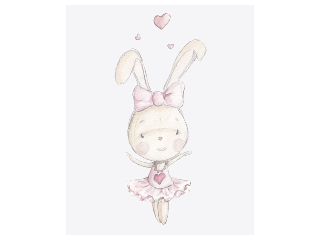 vinylová nálepka tancujúci zajačik b