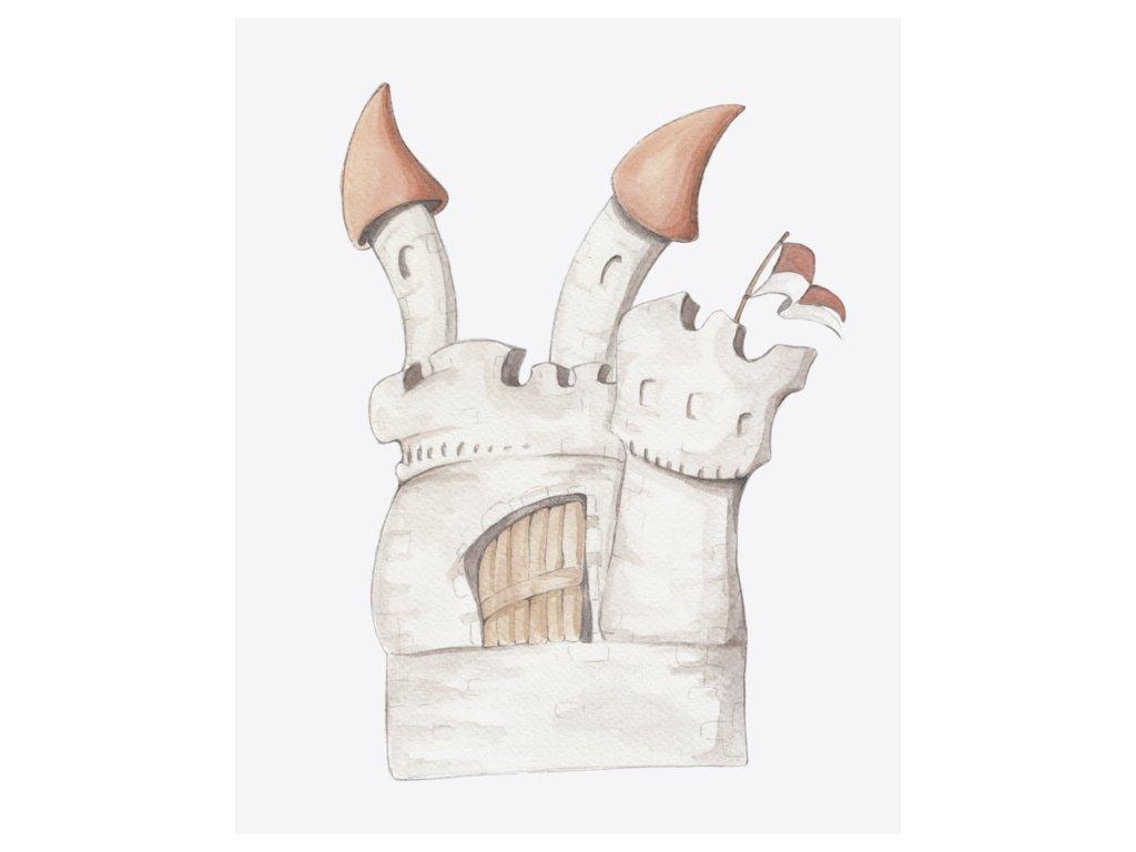 Nálepka na stenu hrad
