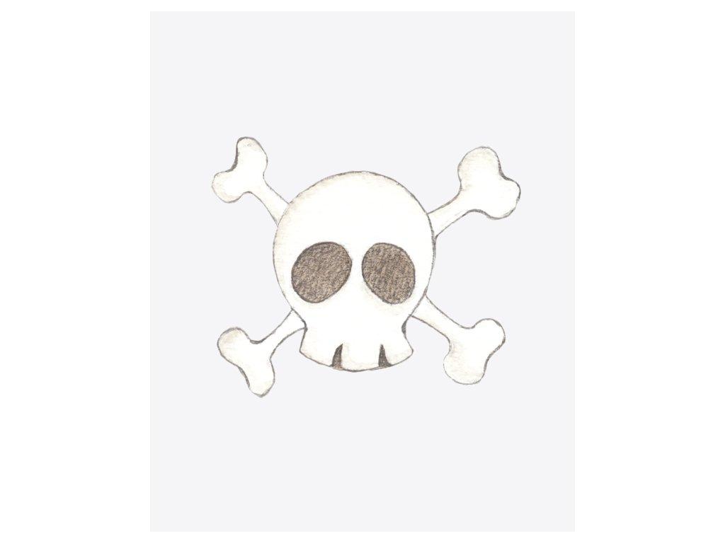Nálepka pirátska lebka