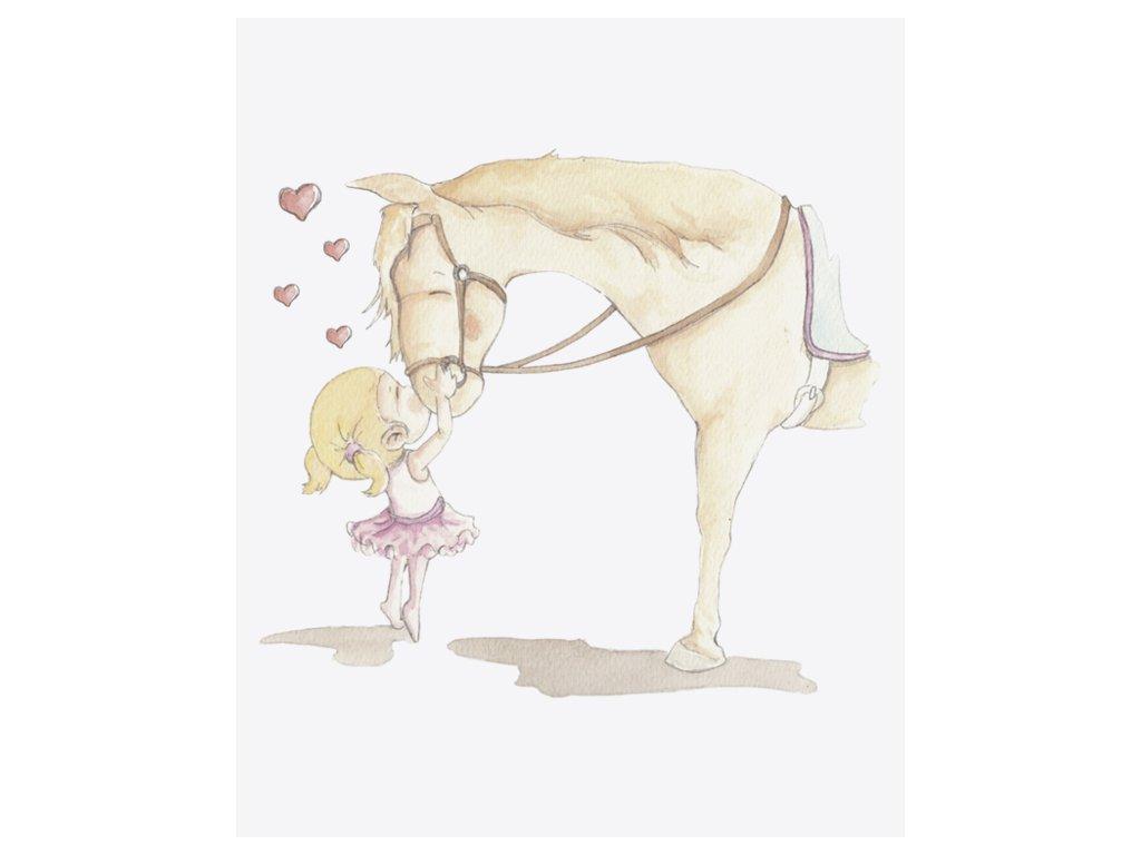 Nálepka dievča a kôň
