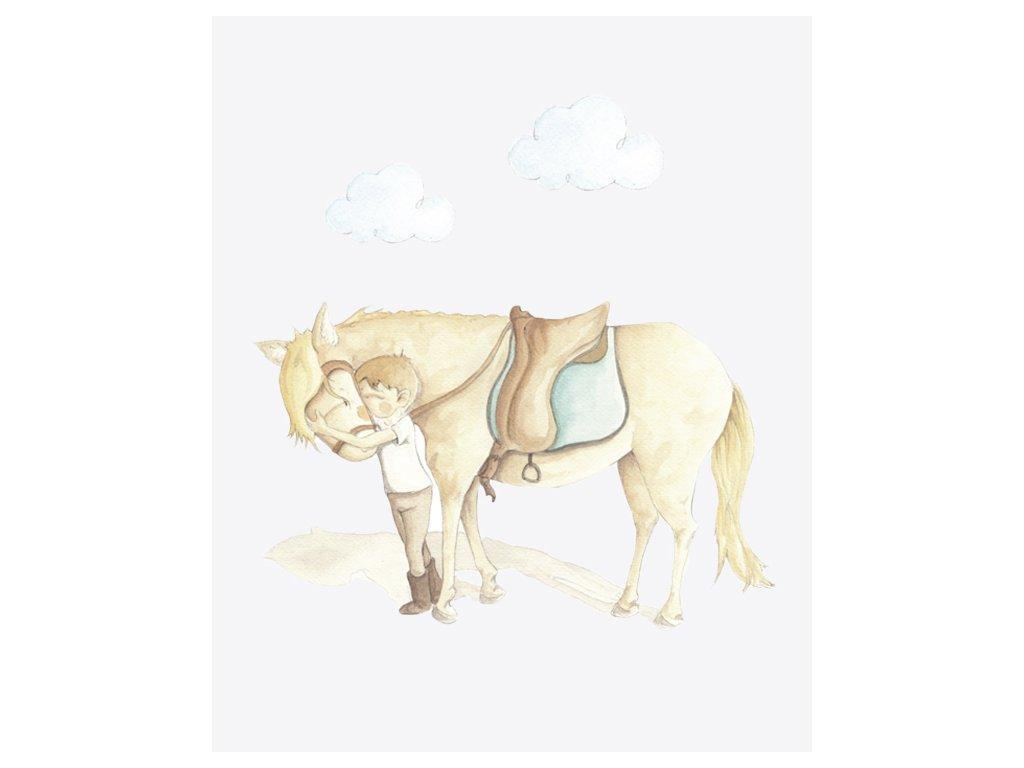 Nálepka na stenu kôň