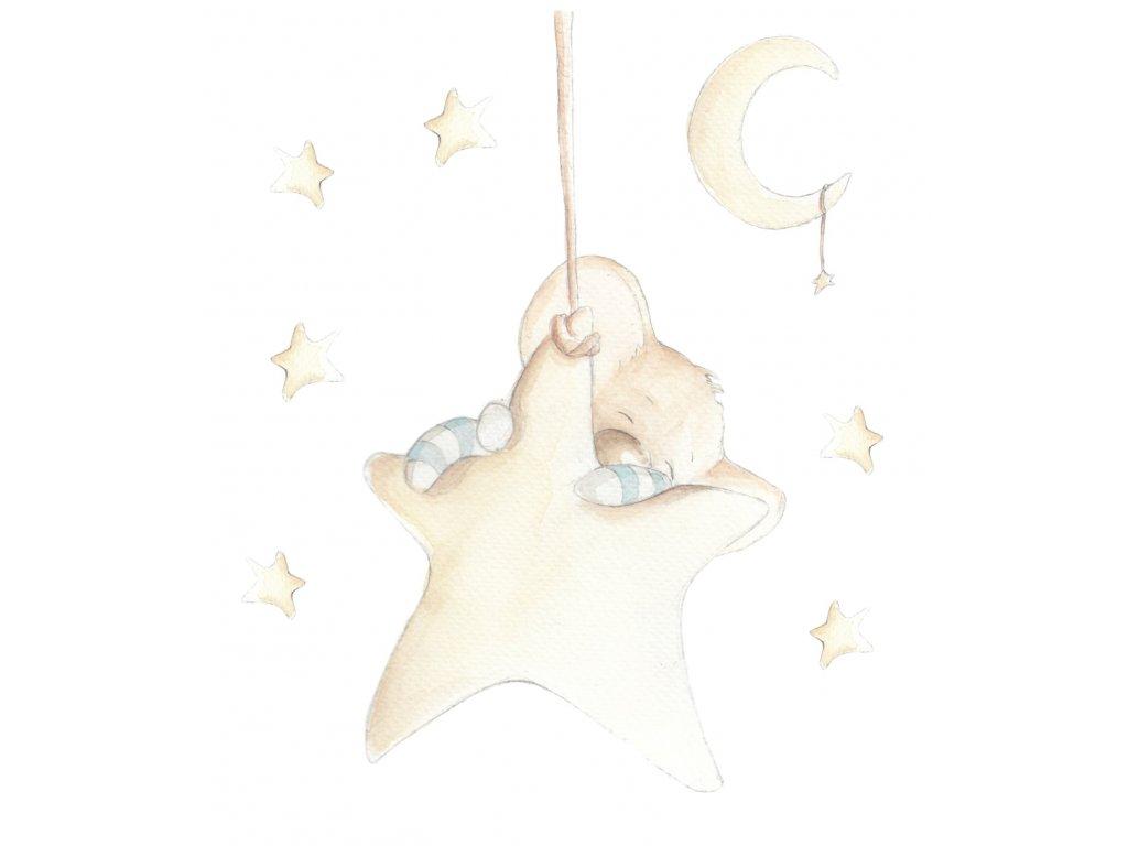 Myška spiaca na mesiaci