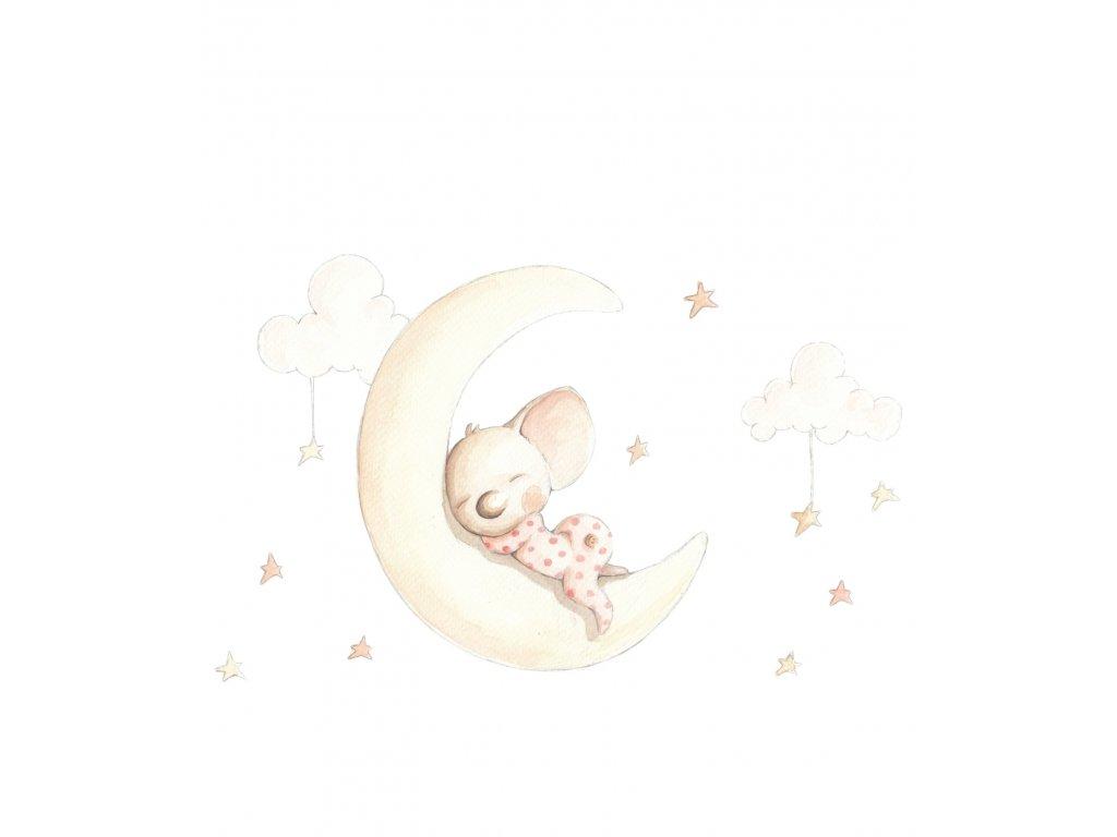 Nálepka sny na mesiaci