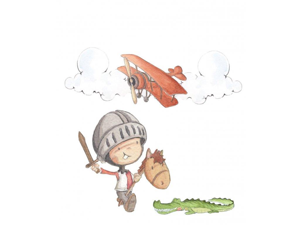 Nálepka malý bojovník