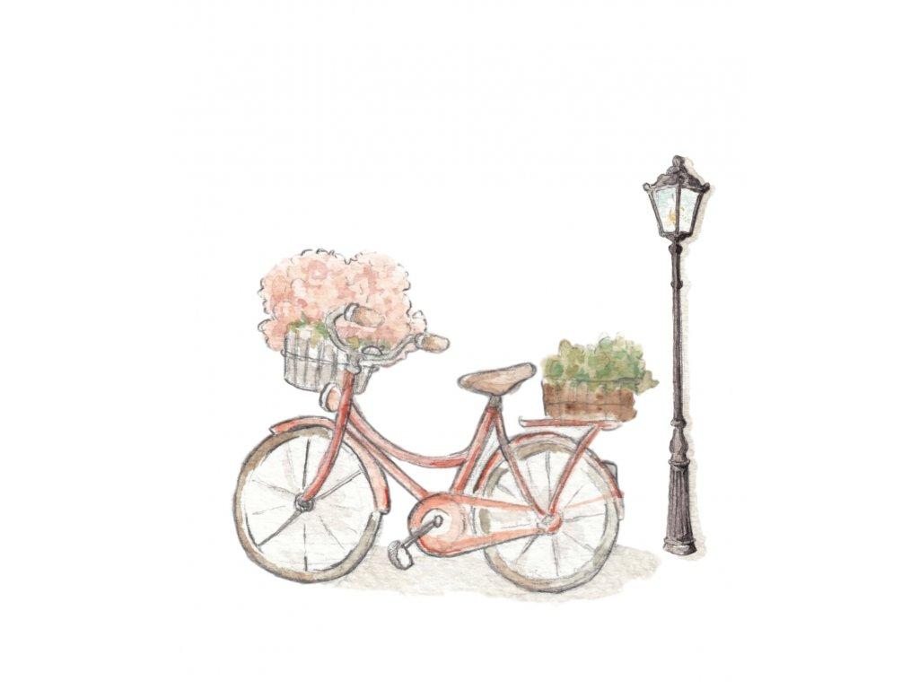 Nálepka do detskej izby dievčenský bicykel