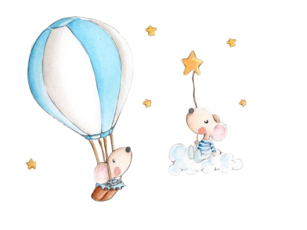 Nálepka s balonom do hviezd