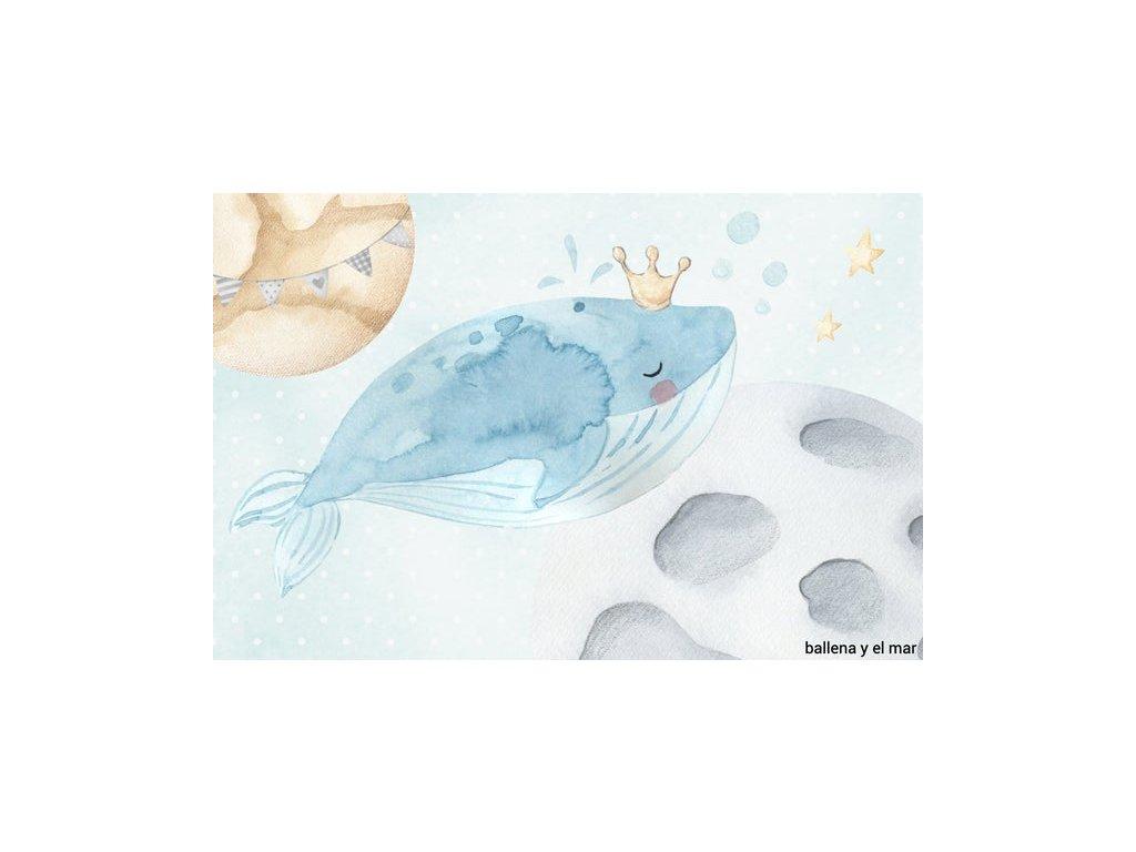 Nástenná maľba na stenu samolepiaca veľryba