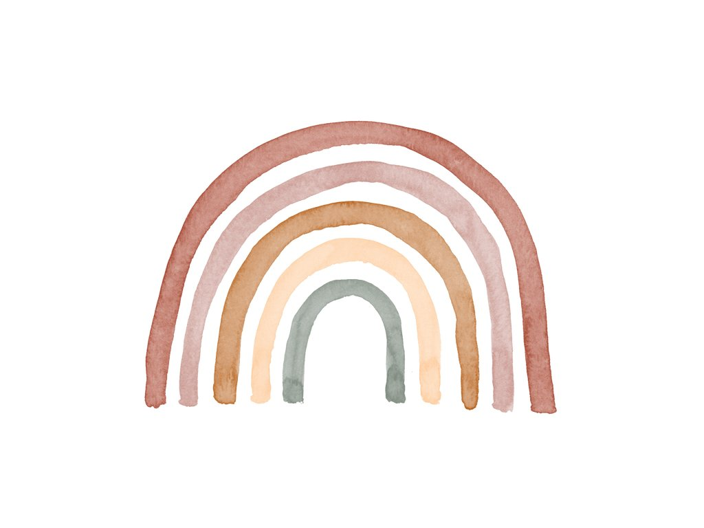 Farebná dúha nálepka na stenu