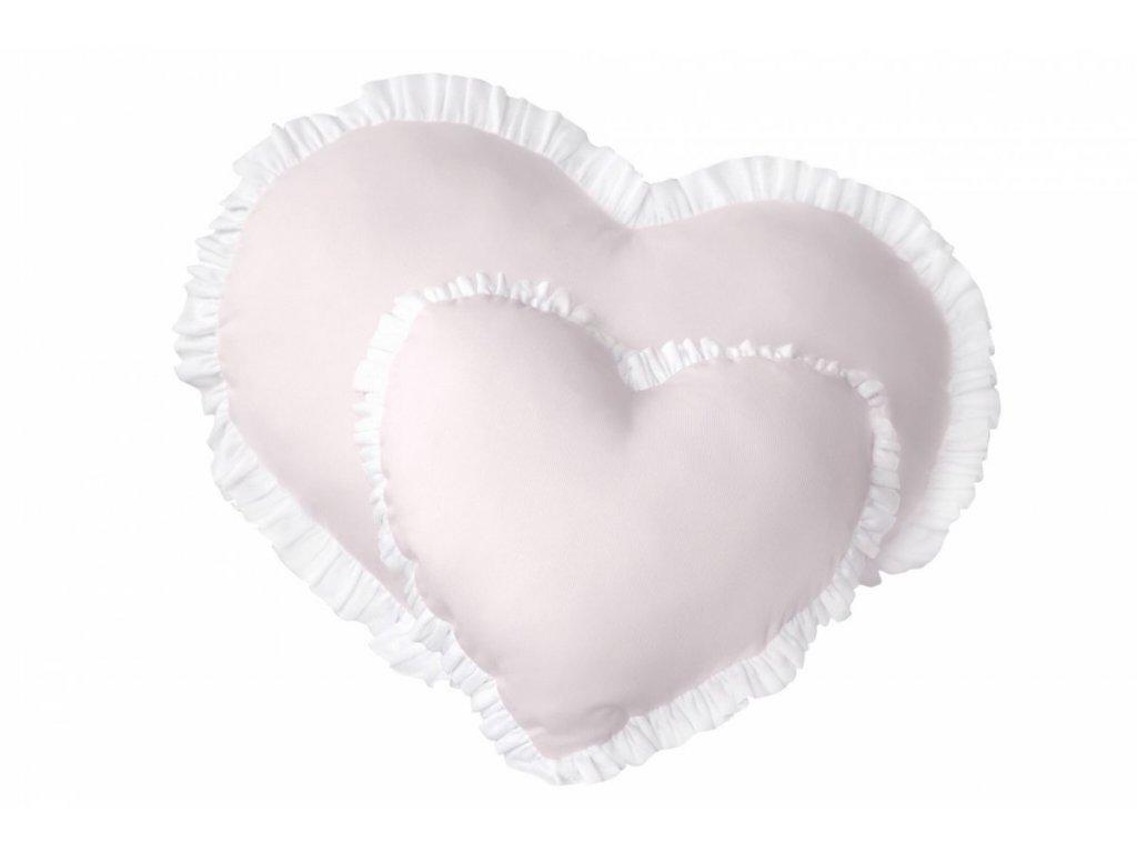 Caramella Baby Pink velký dekorační polštář srdíčko růžové
