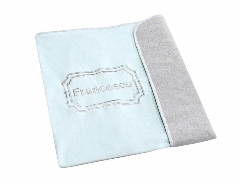 Caramella dětská deka se jménem dítěte modrá