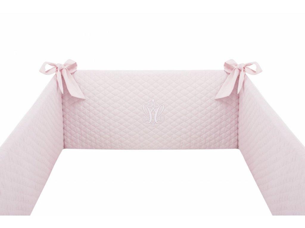 Caramella Baby Pink mantinel do postýlky růžový