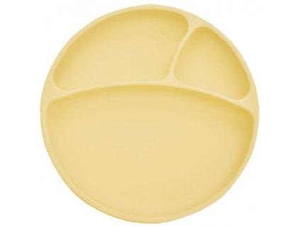 žltý silikónový tanierik
