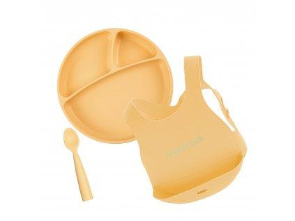 Minikoioi jedálenská sada pre deti žltá