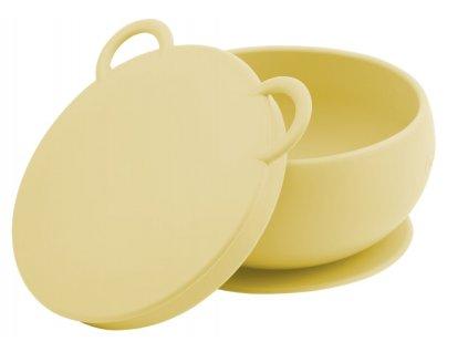 Minikoioi silikónová miska s prísavkou žltá