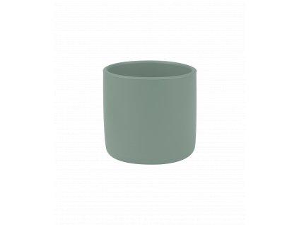 Silikónový pohárik pre dieťa zelený