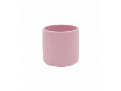 Silikónový pohárik pre dieťa ružová