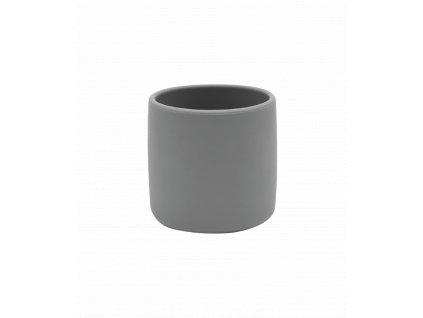 Silikónový pohárik pre dieťa šedý