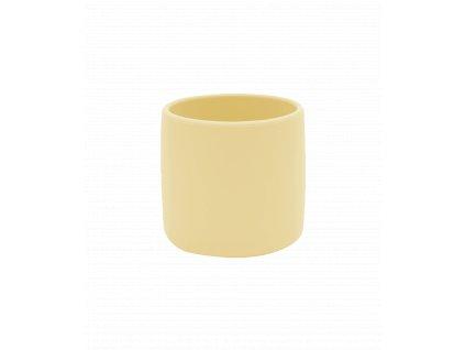 Silikónový pohárik pre dieťa žltý