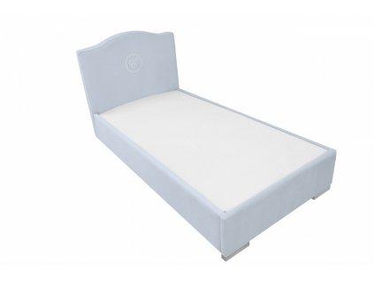 Caramella Hampton čalouněná dětská postel 90x200 modrá